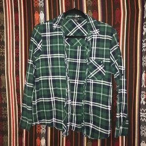 Forever 21 Green and Blue Flannel